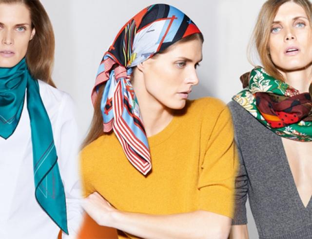 12 способов носить шелковый платок от Hermes