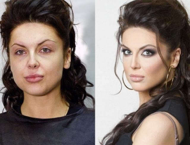 Чудеса преображения: девушки до и после нанесения макияжа