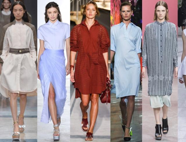Тренд: платье-рубашка