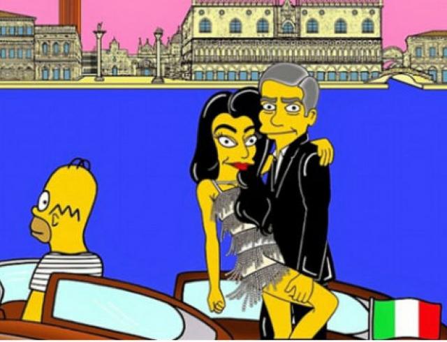 Свадьбу Джорджа Клуни изобразили в Симпсонах