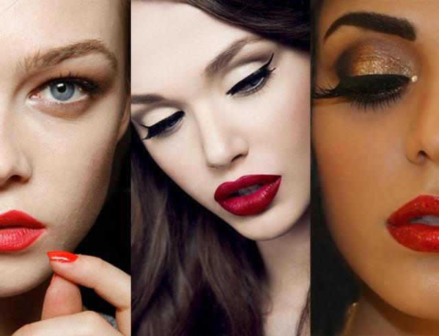 Как носить красную помаду: 3 типа макияжа