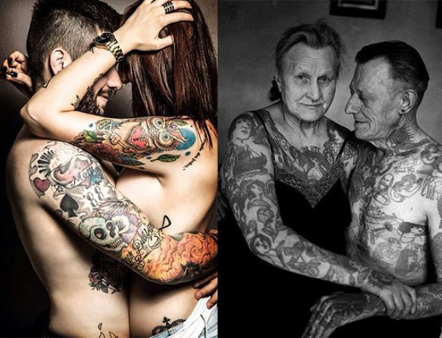 Как выглядят татуировки в старости