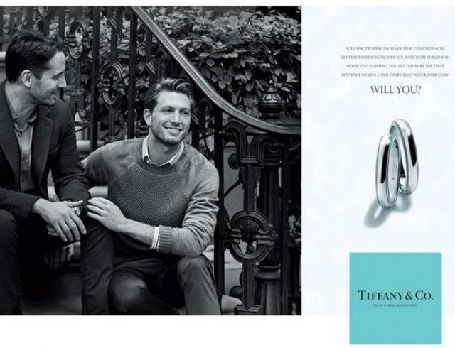 Как однополая пара оказалась в рекламе Tiffany & Co.