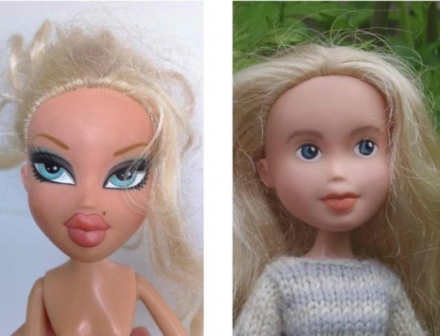 Что будет, если умыть куклу: вид без макияжа
