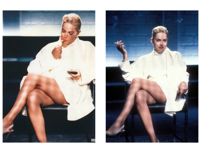 Total white образ Шерон Стоун