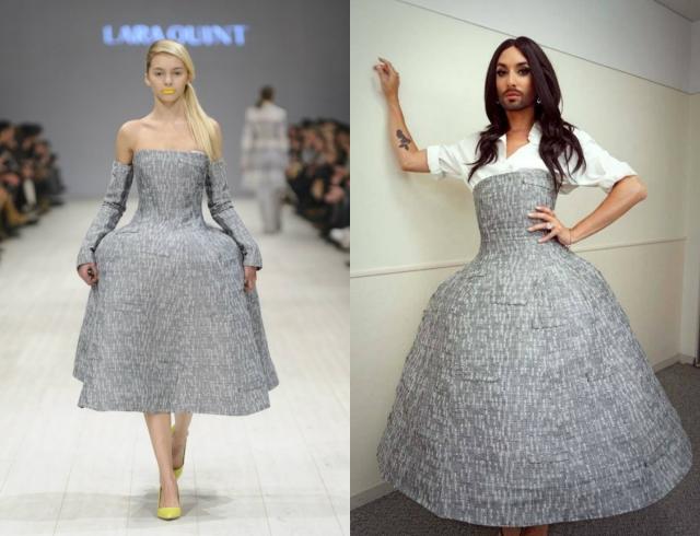 Кончита Вурст надела платье украинского дизайнера
