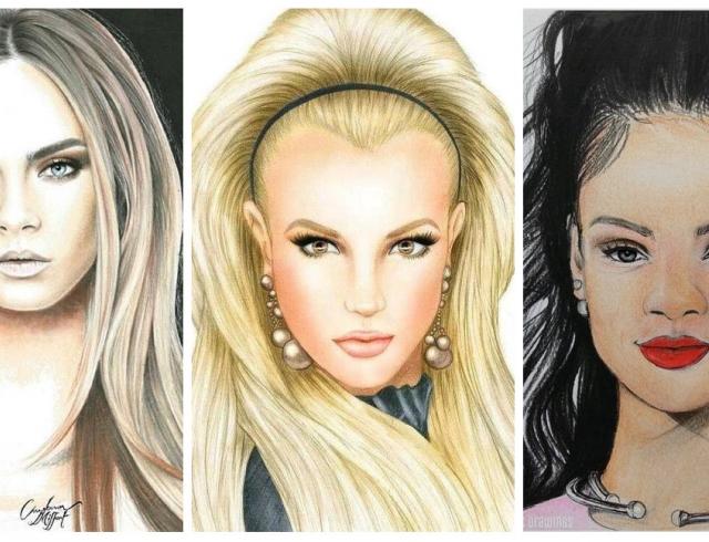 Как фанаты рисуют Боню, Рианну, Брежневу, Джоли и других звезд
