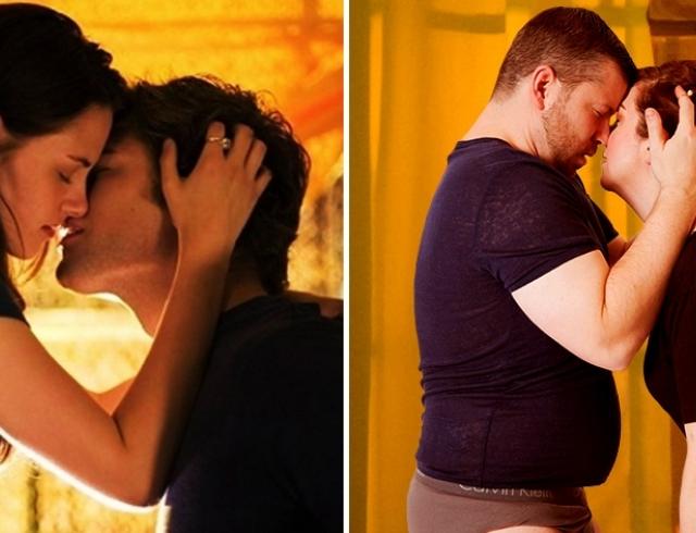 10 культовых поцелуев из фильмов в реальной жизни: как это выглядело бы на самом деле