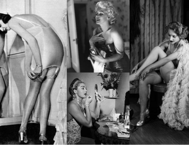 Как готовились на вечеринки 100 лет назад: дамы у зеркала перед party