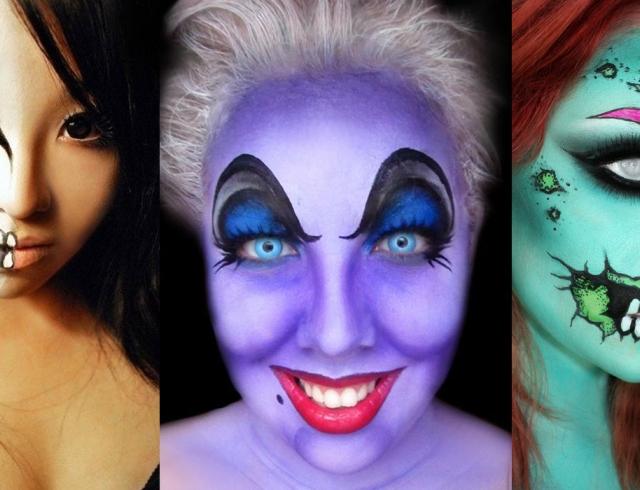 Сделать макияж на хелуинтаун