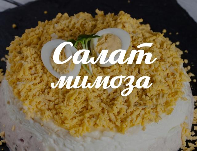 Салат Мимоза: готовим простой, но очень вкусный салат