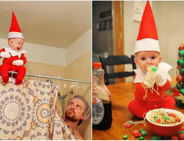История одного эльфа: отец сделал серию фотографий своего ребенка к Рождеству