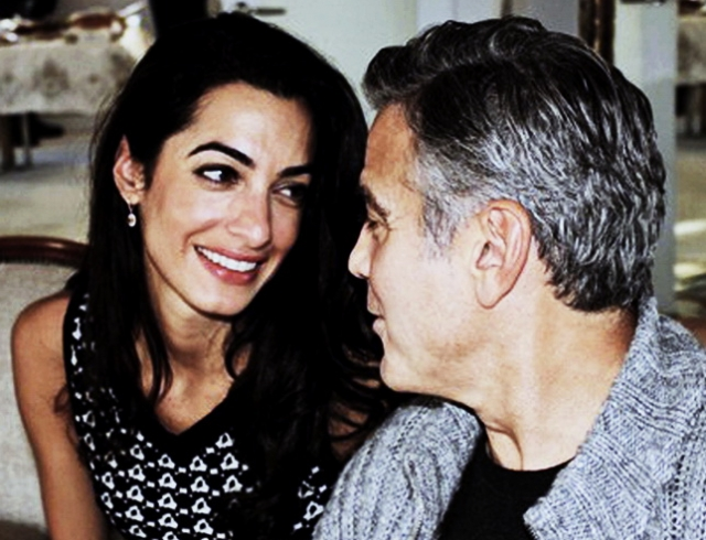 Как Джордж Клуни делал предложение Амаль Аламуддин. Видео