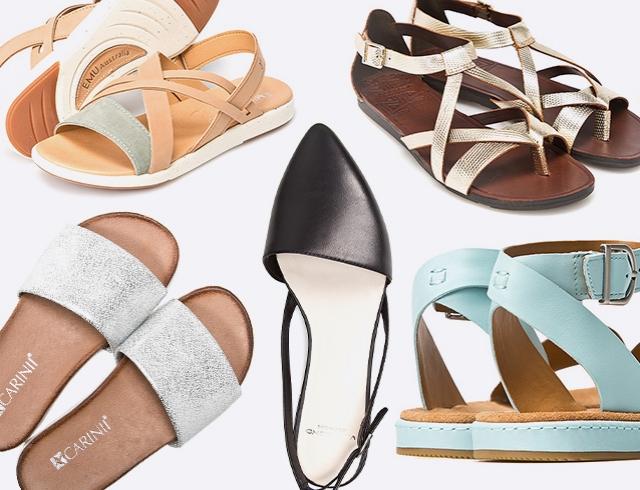Низкий ход: более 20 пар модных сандалий на плоской подошве на лето