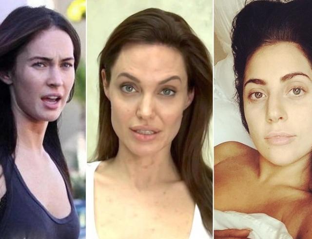 Голливудские звезды без макияжа фото до и после