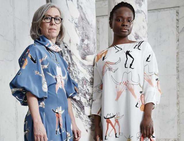 Дизайнер и художница из Одессы Маша Рева создала принты для нью-йоркского бренда Rachel Comey
