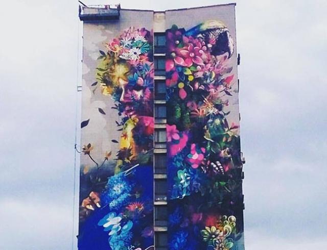 """Столичний мурал """"Красуня і птах"""" знищили через простір для реклами під виглядом утеплення фасаду, - нардеп Лерос - Цензор.НЕТ 9535"""