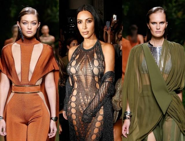 Армия Balmain на Неделе моды в Париже: украинская модель Алла Костромичева, Ким Кардашьян, Джиджи Хадид и другие