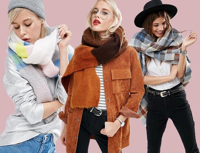 Модные аксессуары осень-зима 2016-2017: все трендовые шарфы, платки и перчатки