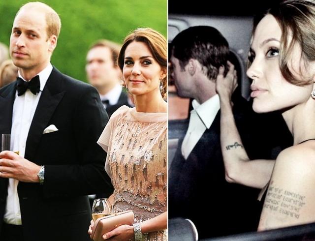 Королевские страсти: Кейт Миддлтон приревновала принца Уильяма к Анджелине Джоли