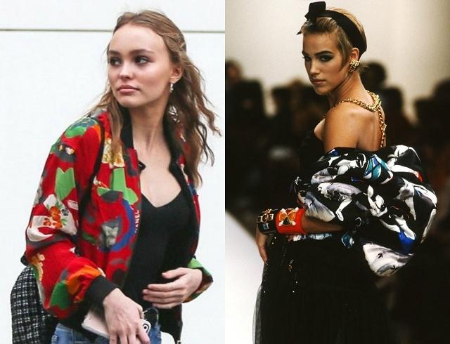 Вдохновение дня: Лили-Роуз Депп в винтажном бомбере Chanel