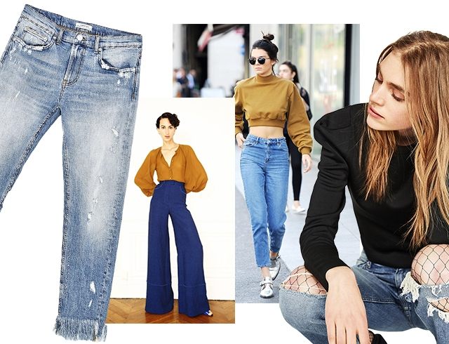 Модные джинсы в 2017 году: популярные модели, кому и как их носить (фото)