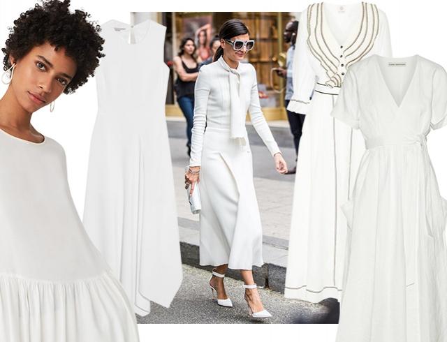 Белое платье — тренд весны и лучший образ на Пасху