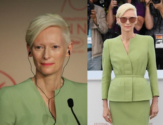 Образ дня: инопланетная Тильда Суинтон показывает, как носить зеленый
