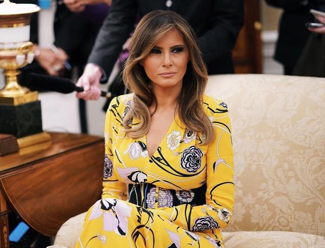 Слишком ярко: Меланию Трамп раскритиковали за неуместный наряд для официальной встречи (ФОТО)