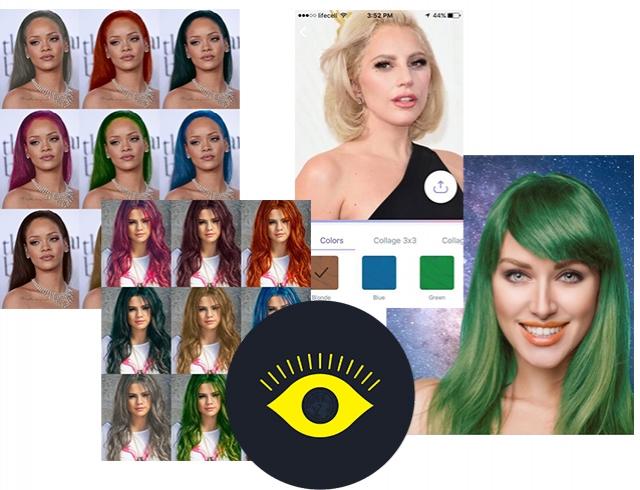 поменять цвет волос на фото