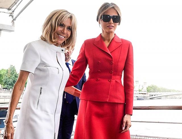Модное фиаско: Мелания Трамп не попала в список самых стильных, а Бриджит Макрон — да