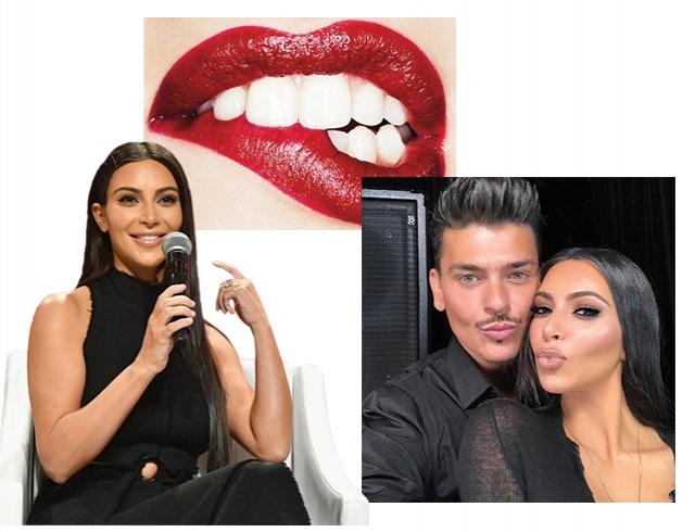"""Какая помада визуально """"отбеливает"""" зубы: рассказывает визажист Ким Кардашьян"""