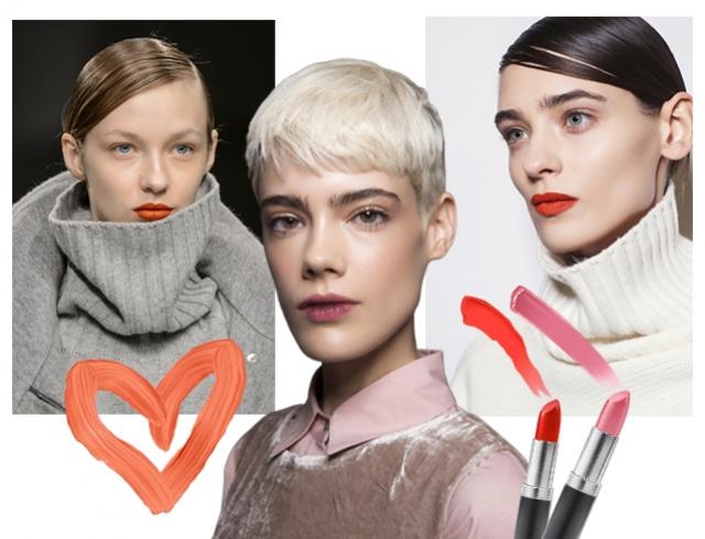 Выбирай свою: модный оттенок помады для губ в сезоне зима 2017/18