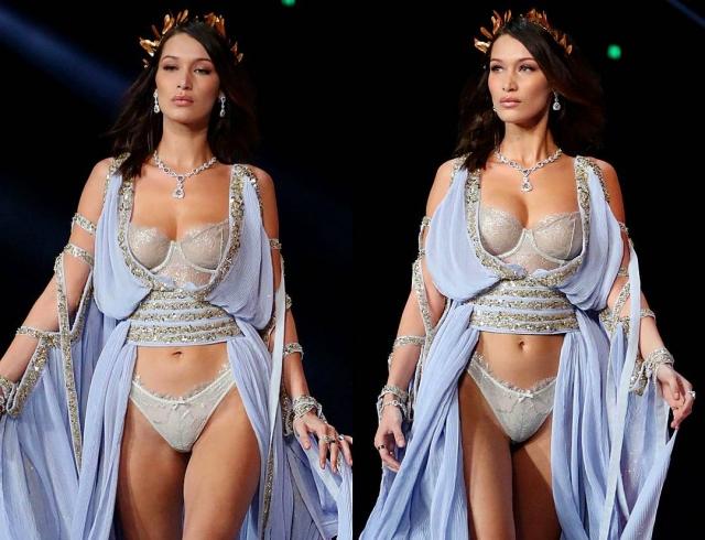 Конфуз на Victoria's Secret: Белла Хадид в очередной раз сверкнула грудью