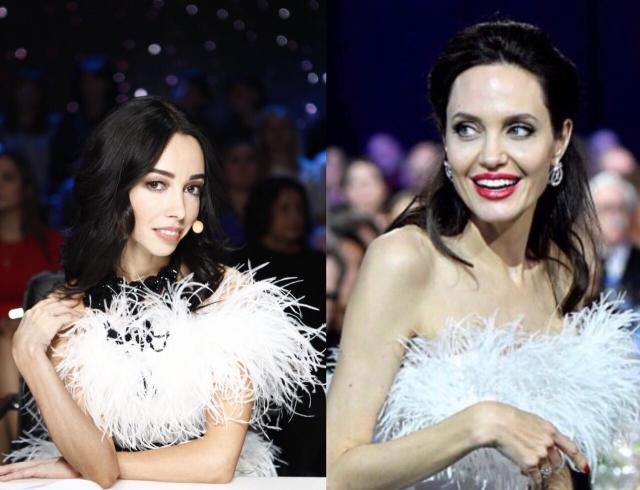 Значит, война: Екатерина Кухар и Анджелина Джоли надели одинаковые платья