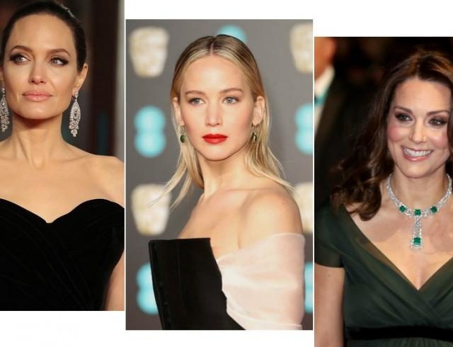 Красная дорожка BAFTA: Анджелина Джоли, Кейт Миддлтон, Сальма Хайек, Дженнифер Лоуренс и другие