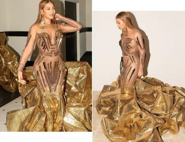 Как египетская царица: Бейонсе в золотом платье восхитила поклонников