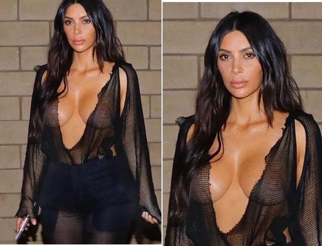 Ким Кардашьян раскритиковали за слишком откровенное и безвкусное платье