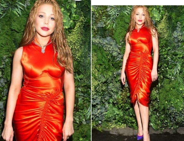 Тина Кароль в ярком образе появилась на презентации арт-номера журнала VOGUE