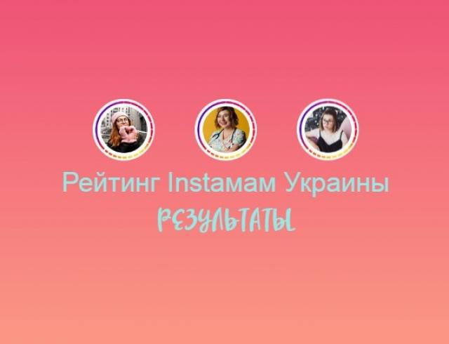 Результаты рейтинга Instaмам Украины