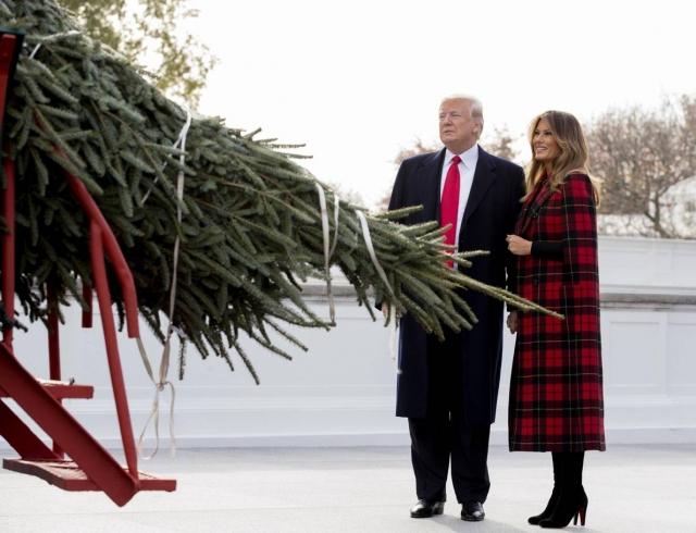 Как чета Трампов готовится к Рождеству в Белом доме (ФОТО)