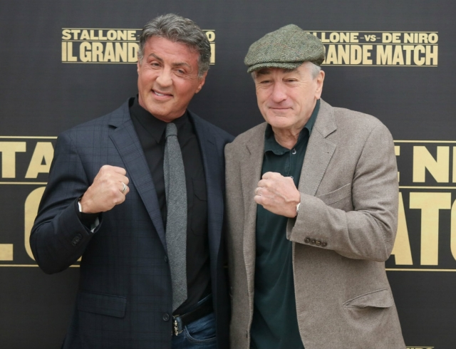 На кого бы поставил? Сталлоне и Де Ниро встретились на ринге (ВИДЕО)