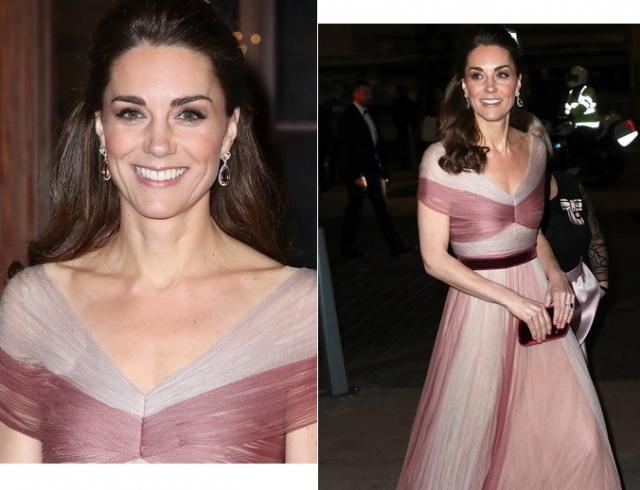 Кейт Миддлтон появилась на гала-ужине в Музее Виктории и Альберта в платье Gucci