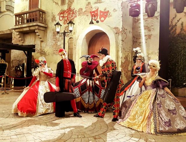 Венецианский карнавал от Александра Лещенко и театра танца Foresight в Абу-Даби (ФОТО)