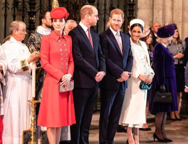 Снова вместе: члены королевской семьи появились на службе в Вестминстерском аббатстве