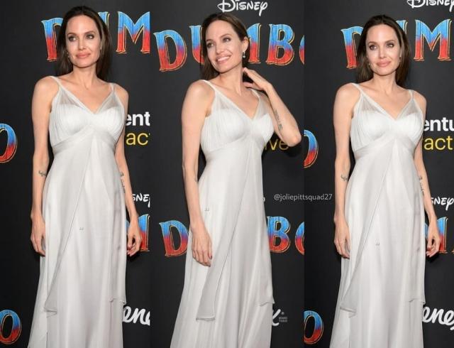 """Анджелина Джоли в белоснежном платье появилась на премьере """"Дамбо"""" (ГОЛОСОВАНИЕ)"""