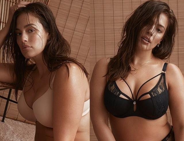 Модель plus-size Эшли Грэм презентовала авторскую линейку нижнего белья