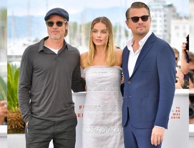 """Брэд Питт, Леонардо Ди Каприо и Марго Робби в новом трейлере фильма """"Однажды в Голливуде"""""""