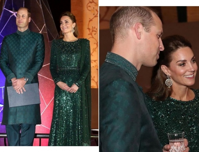 Герцогини выбирают зеленый: Кейт Миддлтон на приеме в Исламабаде принимает комплименты