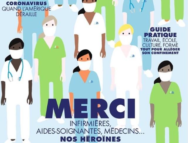 """""""Наши герои"""": французский Elle посвятил номер медработникам, которые сражаются с COVID-19"""
